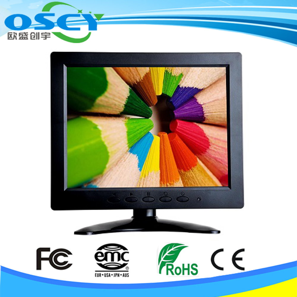 8 inch tft led lcd resolution support 1024*768 resisitve hdmi dvi touch monitor for atm pos and Instrumentation Display
