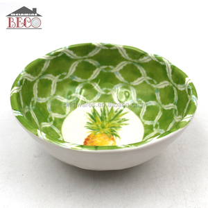 large capacity melamine green durable bread mixing bowl