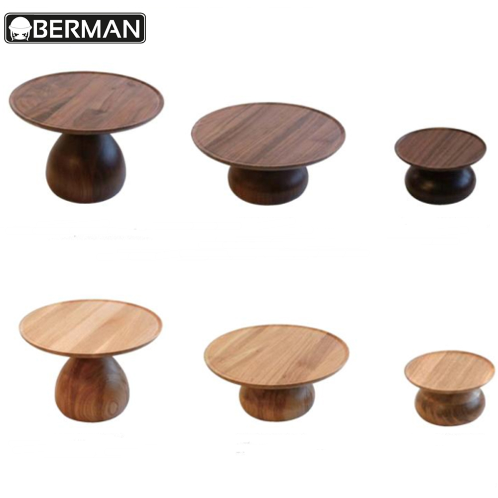 High quality fashion modern fancy wedding banquet wooden cake stand, wood stand for food