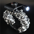 Wholesale New product camping 550 paracord survival bracelet bangles with led flashlight&compass&firestarter
