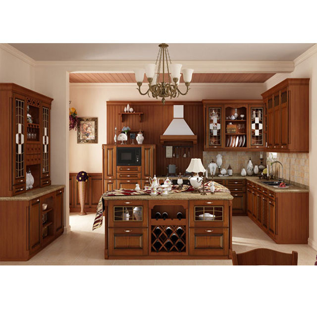 The Best Choice European Standard Clical Solid Wood Kitchen
