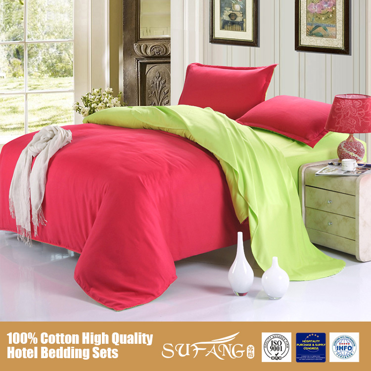 Nantong Sufang Wholesale Microfiber Home Use Bed Cover Sets/2016 Solid Color Bedding Sets/Quilt Cover Sets