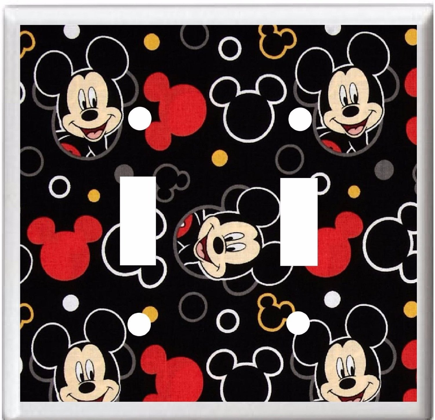 BB MICKEY MOUSE CHILDREN & NURSERY LIGHT SWITCH COVER PLATE OR OUTLET (DOUBLE LIGHT)