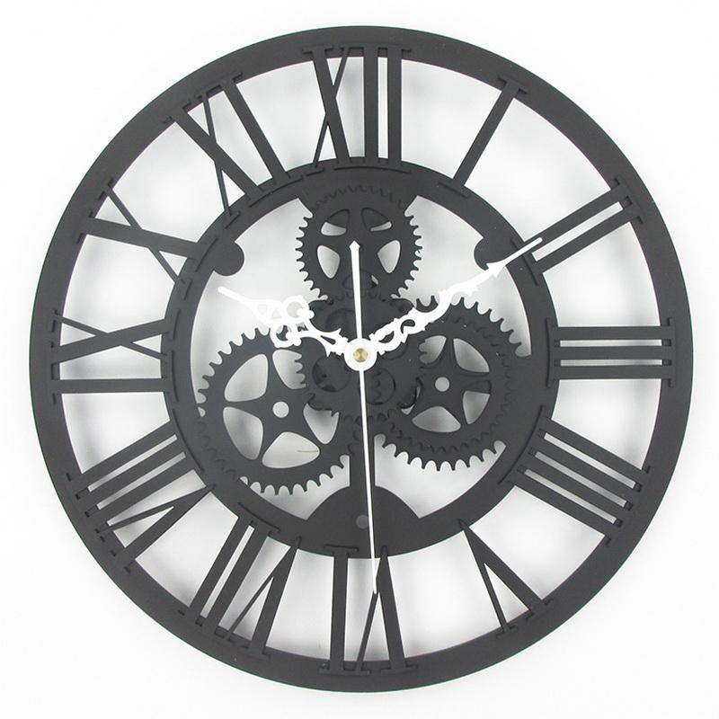 european antique gear wall clock vintage mechanical gear clock large gear wall clock for art. Black Bedroom Furniture Sets. Home Design Ideas