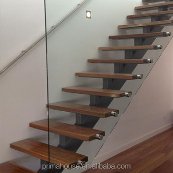 Modern Gl Folding Stairs Build Floating Staircase