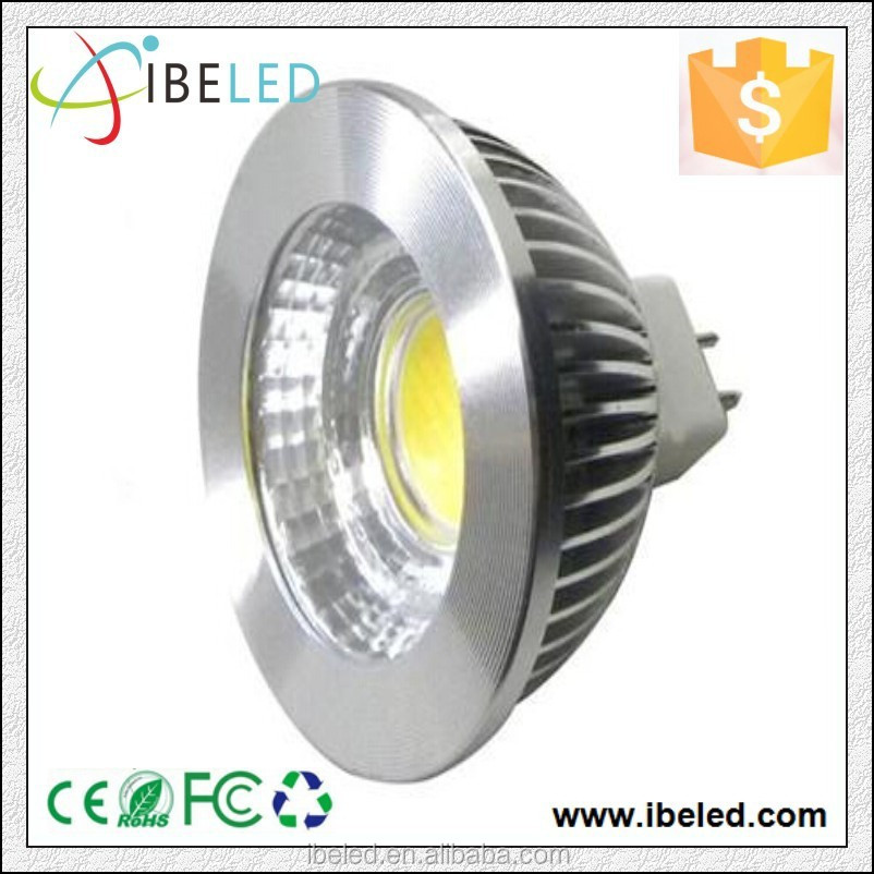COB 5W MR16 LED Spotlight Aluminum dimmable suitable of kinds of transfomer and dimmer
