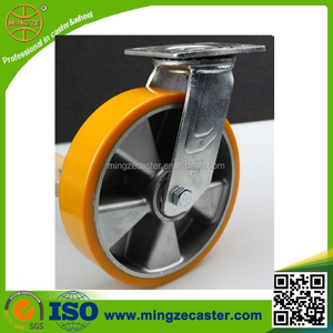 Heavy duty machine moving fifth wheel swivel caster for cart