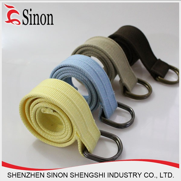 customize woven d ring closure belts