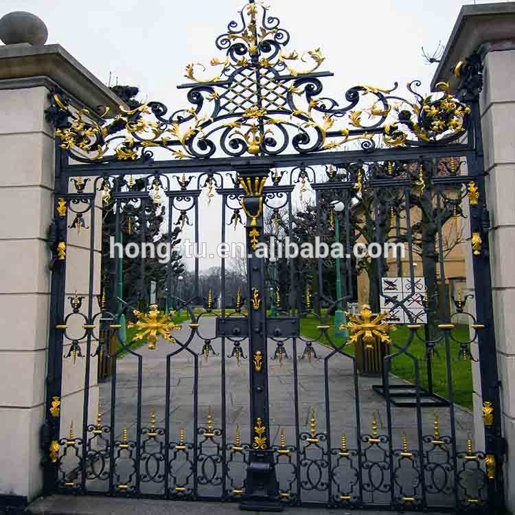 Outdoor Simple Iron Gate Grill Designs Good Price