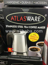 4 cup Stainless Steel Atlasware Espresso Coffee maker