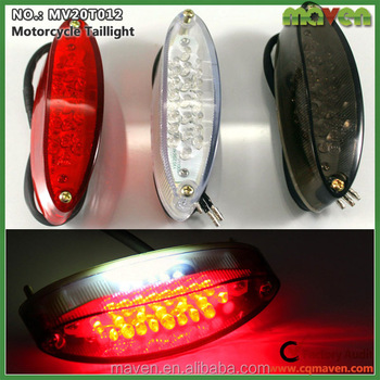Multifunction Custom Motorcycle LED Rear Brake Running License Plate Tail  Light Assembly