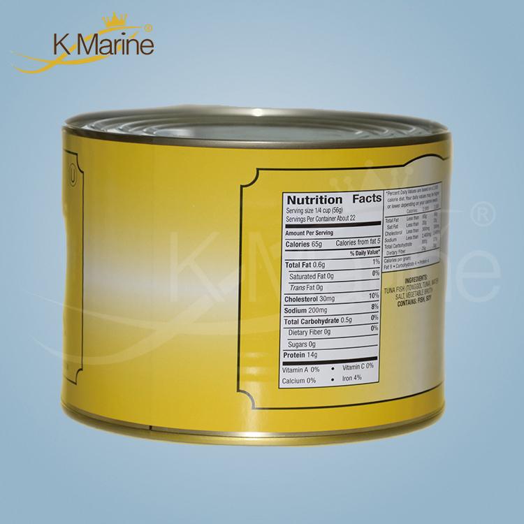Big Size 1.88kg Canned Tuna Chunks in Water
