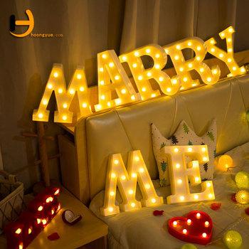 Alphabet Lights Battery Operated Warm White Led Letter Light Up Sign For Wedding