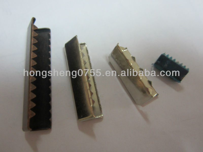 manufacturing various patterns rope cord end clip / metal rope end clamp