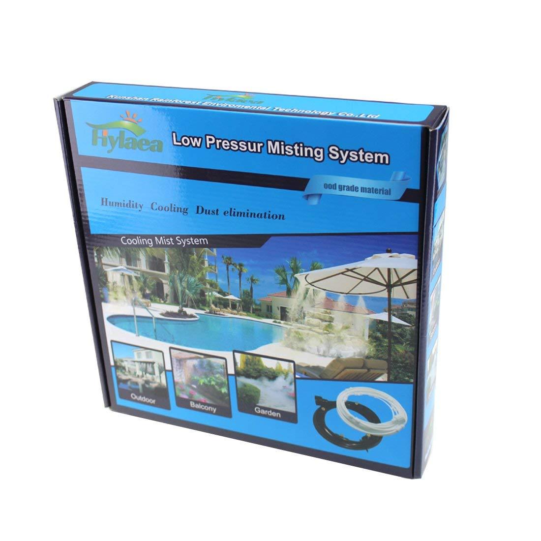 Hylaea 6m (20feet) Portable 1/4'' Outdoor Patio Mist Cooling System, Outdoor Misting System, Outdoor Misting Kit For Patio, Lawn, Garden (6m)
