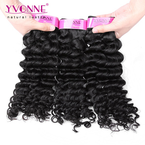 Sample Bundles Best Selling Human Weave Deep Wave 100 Virgin Peruvian Hair Weft