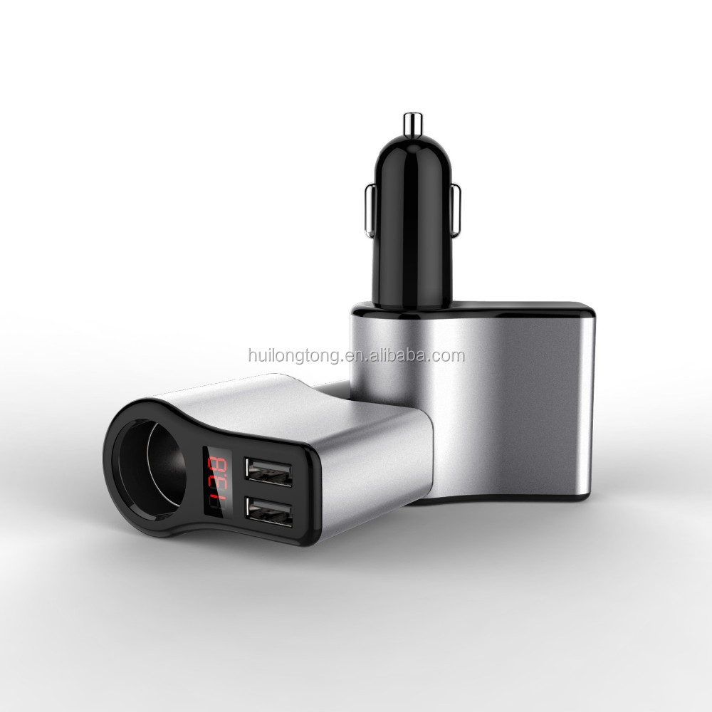 Wholesale 2 port cigarette lighter usb car charger 3.1A mobile charger CE RoHS Certification