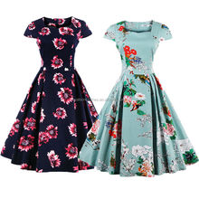 Bestdress Vintage estilo 1950s Retro rockabilly, swing, pinup vestidos de fiesta para damas de honor