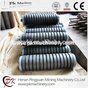 Ultrahigh quality wear-resisting belt conveyor parts rubber roller idler