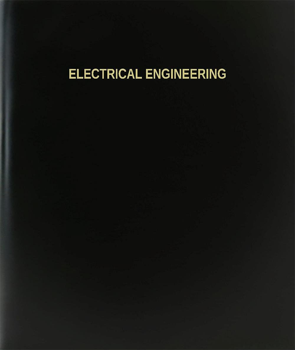 "BookFactory® Electrical Engineering Log Book / Journal / Logbook - 120 Page, 8.5""x11"", Black Hardbound (XLog-120-7CS-A-L-Black(Electrical Engineering Log Book))"