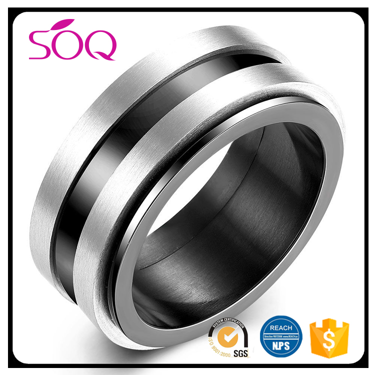 Hot Sale Fashion Masonic Trendy fashion unisex black stainless steeltungsten ring