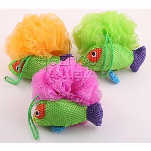 pescado animal lindo en forma de esponja de bao para niospuf malla esponja de