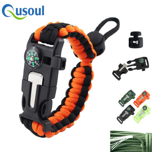 New design Free Sample Kit Outdoor 5 In 1 Fashion 550 Survival wristband, Smart Sport Adjustable Paracord Bracelet