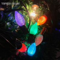 china suppliers Acrylic led strawberry colorful C6 C7 bulb Christmas home lighting