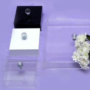 Personalized Clear Acrylic Storage Box Acrylic Wedding Wishing Well box