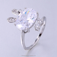 high quality cubic zirconia wedding ring for sports with best quality and low price