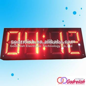 Large Outdoor Led Digital Clock With Ce And Rohs