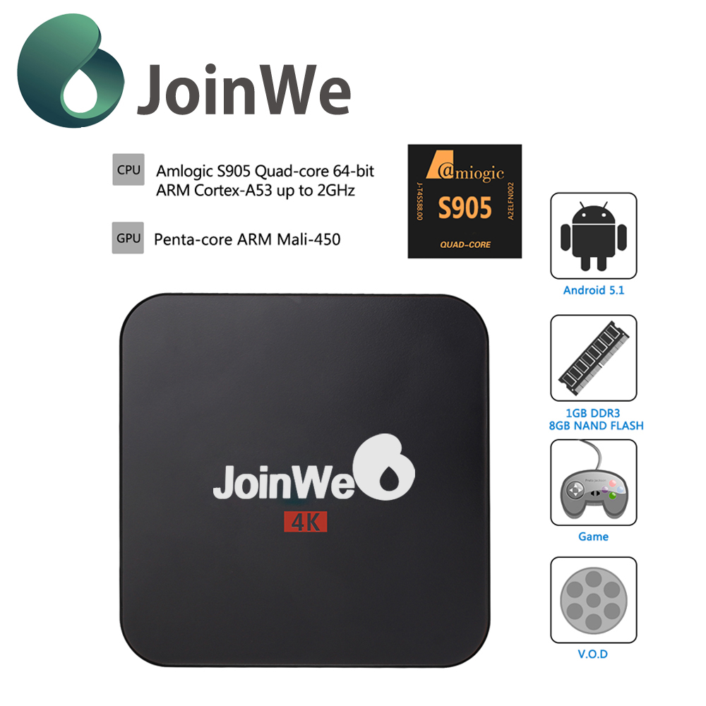 Joinwe Amlogic S905 Quad Core 4K <strong>TV</strong> <strong>Box</strong> <strong>Android</strong> 5.1 KODI 16.0 fully loaded Smart <strong>tv</strong> <strong>box</strong> cheapest <strong>android</strong> <strong>tv</strong> <strong>box</strong>
