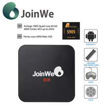 Joinwe Amlogic S905 Quad Core 4K TV Box Android 5.1 KODI 16.0 fully loaded Smart tv box cheapest android tv box