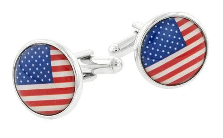 JJ Weston American Flag Cufflinks. Made in the USA.