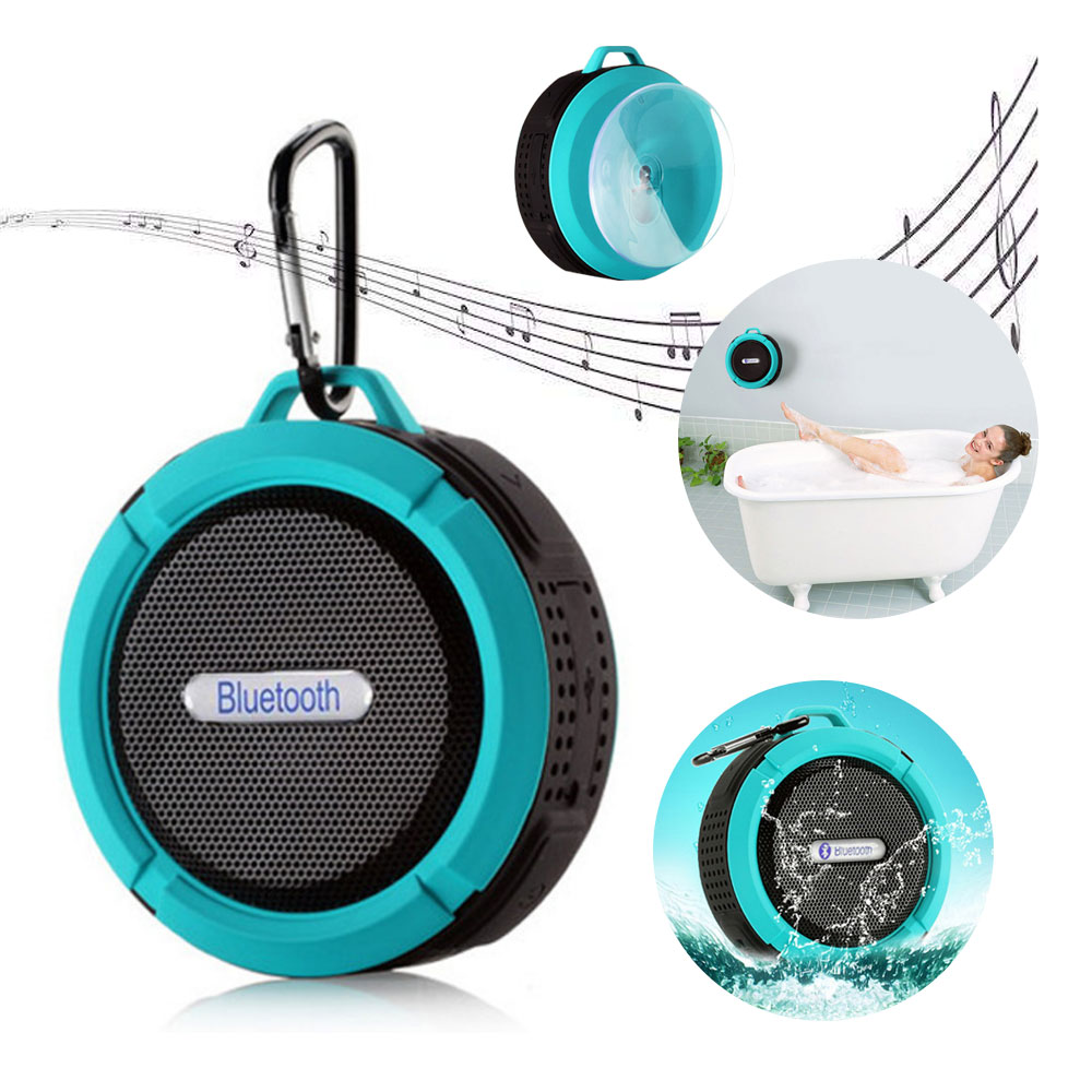 Wireless Blue tooth Waterproof resistant Outdoor & Shower Speaker with 5W micro Hands-Free Speaker for smart phone