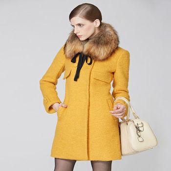 High Quality Women Wool Jackets Coats With Fur Collar - Buy Women ...