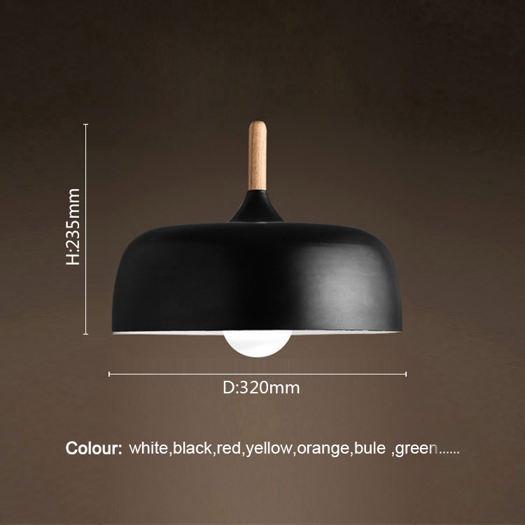 Nordic klassischen stil schwarz runde anhänger lampe mit E27 lampe für wohnzimmer