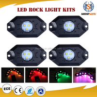 Morsun Music Control Auto Parts Bluetooth ColorSHIFT 8pc Underbody RGB Led Rock Light Kit