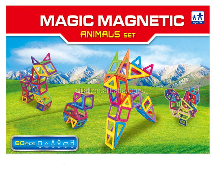 Intelligent Kids Toys Assemble 3D Magic Cube Mag Wisdom Magnetic Building Blocks