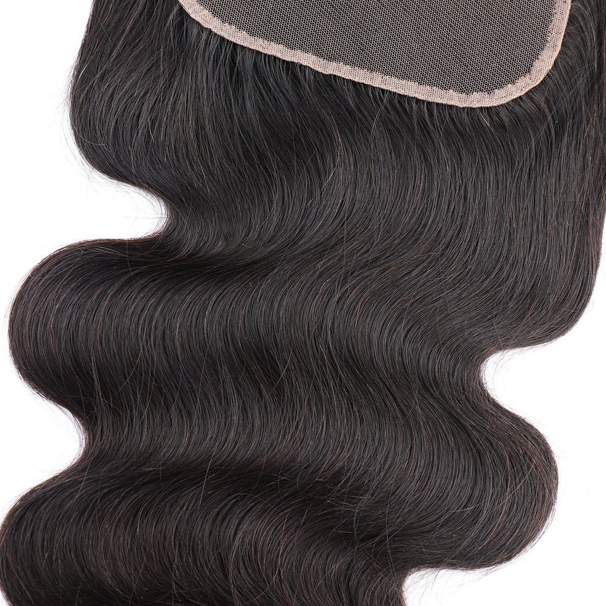 Cheap wholesales virgin human hair 6x6 lace closure body wave closure with baby hair