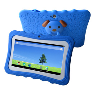 2018 New 7 inch children educational learning android kids tablet with silicon case stand