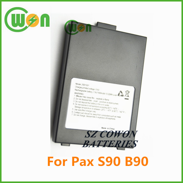 High quality 1800mAh 7.4V rechargeable POS li ion battery 25b1001 Pax S90 battery POS 25b1001 made in China