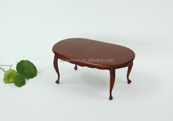 Wooden Toy Doll House 1 12 Dollhouse Miniature Furniture Tea Table