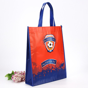 eco reusable soccer football sport shoe customized shopping laminated tote bag