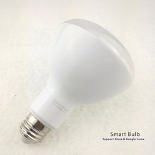 8w voice BR30 Bulb conrol smartphone adroid iso compatible small MOQ smart bulb wifi led light factory price