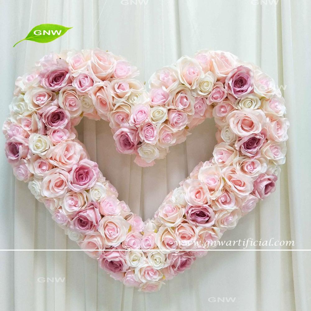 GNW FLWD1707022-Q Flower decoration in stage decoration heart shaped  wedding decor