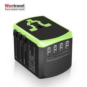 Hot sale universal travel charger world adaptor smart USB fast charger plug socket usb adapter