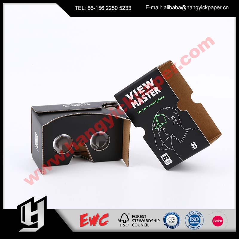 2017 new product Professional cardboard 3d glasses portable VR boxes