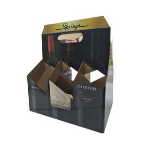 FULL COLOR PRINTED KRAFT PAPER 6 PACK BEER BOX COUNTER DISPLAY BOX WHOLESALE