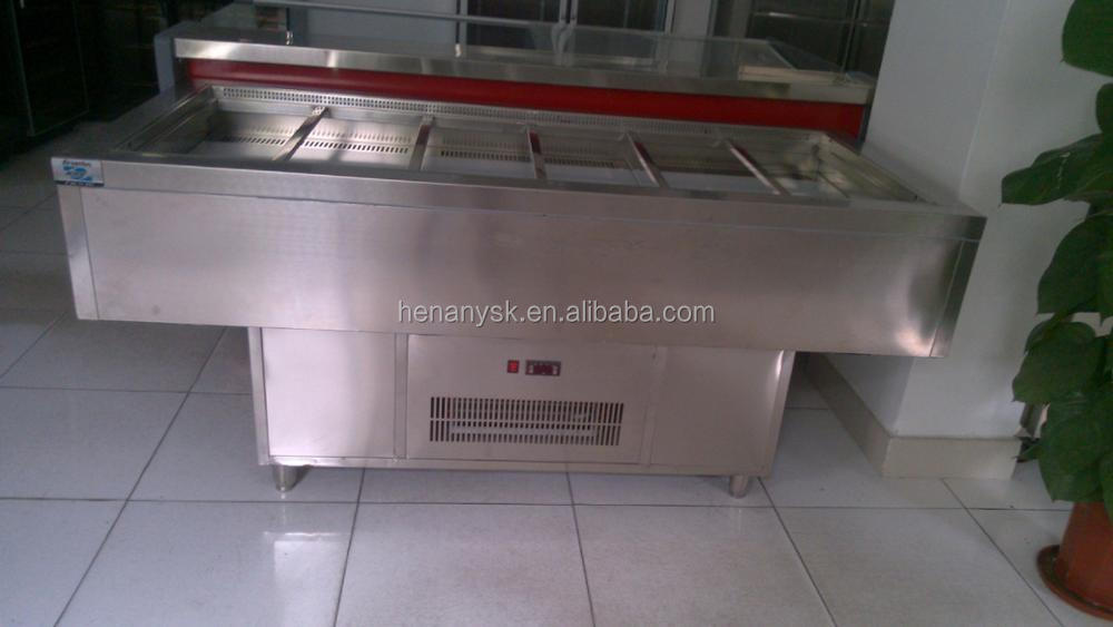 Energy-Saving Sandwiches Fresh-Keeping Cabinet Horizontal Refrigerator Air-Cooling Freezer Working Bench Temperature 0-10 Dc